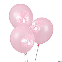"Pink Umbrellaphants 12"" Latex Balloons"