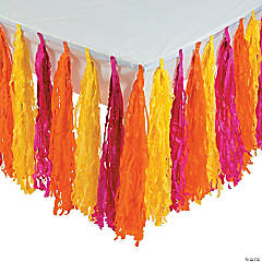 Pink/Orange/Yellow Fringe Table Skirt