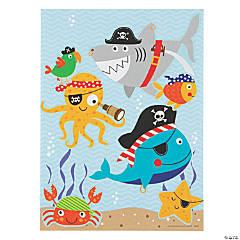 Pirate Animals Mini Sticker Scenes