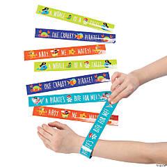 Pirate Animals Slap Bracelets