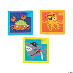 Pirate Animals Slide Puzzles