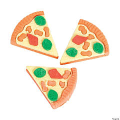Pizza Erasers - 12 Pc.