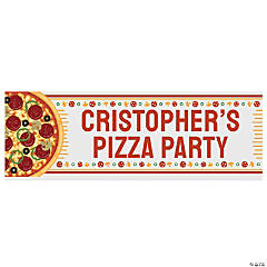 Pizza Party Custom Banner - Small