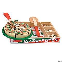 Pizza Party Wooden Play Food