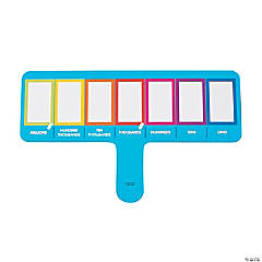 Place Value Dry Erase Paddles