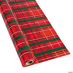 Plaid Christmas Plastic Tablecloth Roll