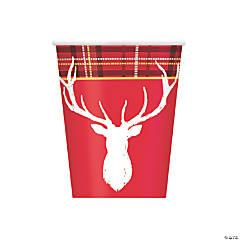 Plaid Deer Christmas Cups
