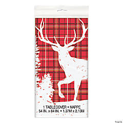 Plaid Deer Christmas Tablecloth