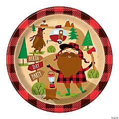 Plaid Lumberjack Birthday Paper Dinner Plates - 8 Ct.