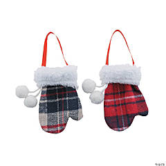 Plaid Mitten Ornaments