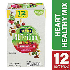 PLANTERS Nut-rition Heart Healthy Nut Mix, 1.5 oz, 12 Count