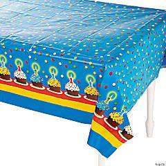 Plastic 1st Birthday Bear Tablecloth
