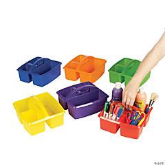 Plastic 3 Compartment Classroom Storage Caddies