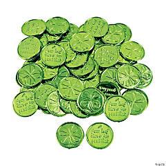 Plastic 4-Leaf Clover Good Luck Coins