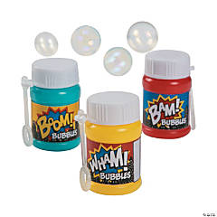 Plastic Action-Packed Mini Bubble Bottles