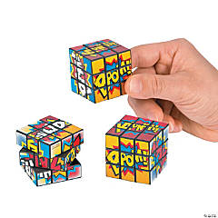 Plastic Action-Packed Mini Puzzle Cubes