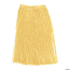 Plastic Adult Natural Color Hula Skirt