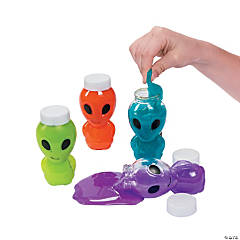 Plastic Alien Character Slime Containers PDQ