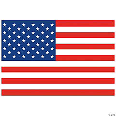 Plastic American Flag Backdrop