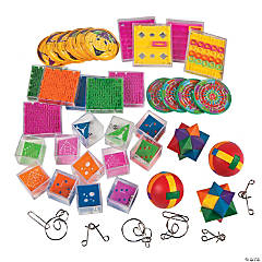Plastic & Metal Brain Teaser Game Boredom Buster Kit