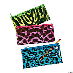 Plastic Animal Print Pencil Cases