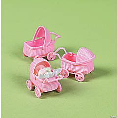 Plastic Baby Carriage Favors