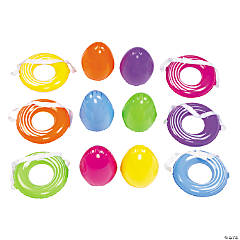 Plastic Balancing Egg Relay Game