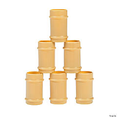 Plastic Bamboo Shot Glasses
