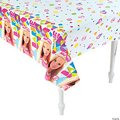 Plastic Barbie™ Sparkle Tablecloth