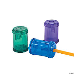 Plastic Barrel-Shaped Pencil Sharpeners