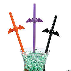 Plastic Bat-Shaped Straws