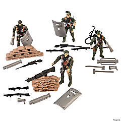 Plastic Battle Commander Army Men Set