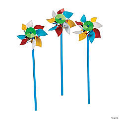 Plastic Beach Ball Pinwheels - 36 Pc.