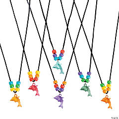 Plastic Beaded Dolphin Necklace Craft Kit