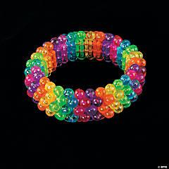 Plastic Beaded Rainbow Bracelets