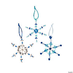 Plastic Beaded Snowflake Christmas Ornament Craft Kit