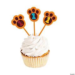 Plastic Bear Paw Cupcake Picks
