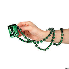 Plastic Beer Mug Beaded Necklaces A with Shot Glass