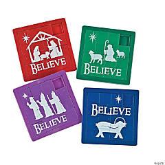 "Plastic ""Believe"" Slide Puzzles"
