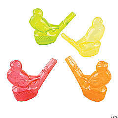 Plastic Bird-Shaped Whistles