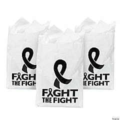 Plastic Black Awareness Ribbon Awareness Bags