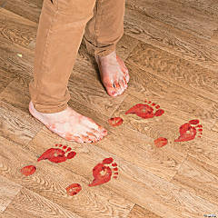 Plastic Bloody Footprints Floor Clings