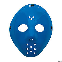 Plastic Blue Hockey Masks