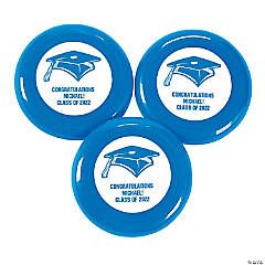Plastic Blue Personalized Graduation Mini Discs