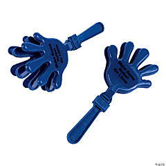 Plastic Blue Personalized Hand Clappers