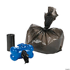 Plastic Bone-Shaped Doggy Doodoo Bag Holder with Bags