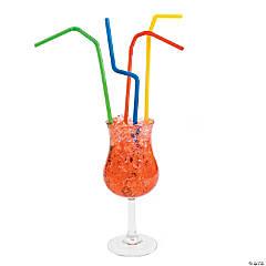Plastic Bright Color Bendable Straws