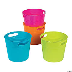 Plastic Bright Colorful Bucket Assortment