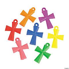 Plastic Bright Cross Charms - 28 mm