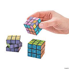 Plastic Bright Mini Magic Cube Puzzles PDQ